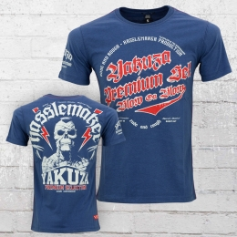 Yakuza Premium T-Shirt Herren Blow On Blow YPS 2119 blau