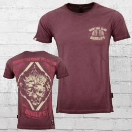 Yakuza Premium T-Shirt Herren Deceptive Kings bordeaux