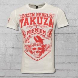 Yakuza Premium T-Shirt Herren Dozen Rebels weiss
