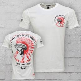 Yakuza Premium T-Shirt Herren Flecked With Angels and Devils YPS 2102 weiss