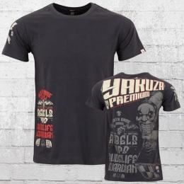 Yakuza Premium T-Shirt Herren Good Morning anthrazit