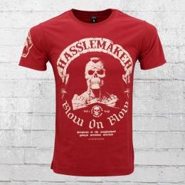 Yakuza Premium T-Shirt Herren Hasslemaker YPS 2112 rot