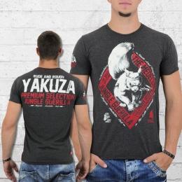 Yakuza Premium T-Shirt Herren Medellin 2.0 YPS 2103 dunkelgrau