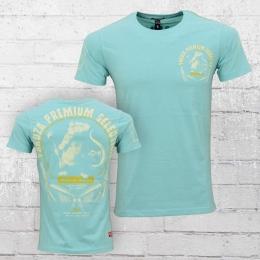 Yakuza Premium T-Shirt Herren Rat Gangster YPS 2116 hellblau t�rkis