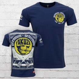 Yakuza Premium T-Shirt M�nner Brass Knuckles Scissor YPS 2113 dunkelblau
