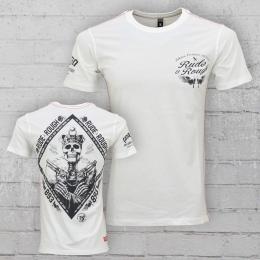 Yakuza Premium T-Shirt M�nner King Death YPS 2106 weiss