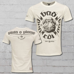 Yakuza Premium T-Shirt Männer Plata o Plomo YPS 2203 weiss