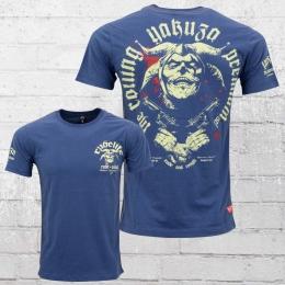 Yakuza Premium T-Shirt M�nner Rude Life Harlekin YPS 2105 blau