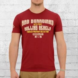 Yakuza Premium T-Shirt Männer Skull King 2208 rot