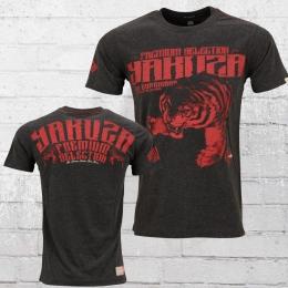 Yakuza Premium T-Shirt Männer Tiger YPS 2207 dunkelgrau