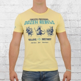Yakuza Premium T-Shirt Three Rats 2401 hell gelb