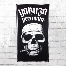 Yakuza Premium Strand Handtuch Smoking Skull 2461 schwarz