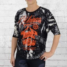 Yakuza T-Shirt Damen LA Skull Longsleeve GSB 8123 schwarz