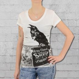 Yakuza T-Shirt Frauen Crow GSB 9106 weiss
