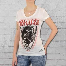 Yakuza T-Shirt Frauen Ninja GSB 9117 weiss