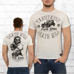 Yakuza T-Shirt Herren Death Will Find You weiss