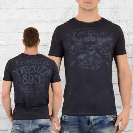 Yakuza T-Shirt Herren Kill Me TSB 9012 grau blau