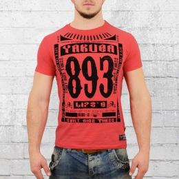 Yakuza T-Shirt Herren Life Time geranien rot