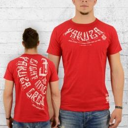 Yakuza T-Shirt Männer 893 Crew TSB 8022 rot