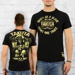Yakuza T-Shirt Männer Born as a Slave TSB 8013 schwarz