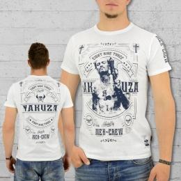 Yakuza T-Shirt Männer Mex Crew TSB 8021 weiss 3XL