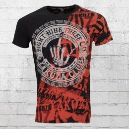 Yakuza T-Shirt Männer Yakuza Club Shirt TSB 9021 schwarz