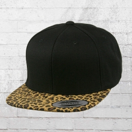 Yupoong by Flexfit Animal Snapback Cap black leopard