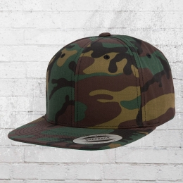 Yupoong by Flexfit Blanko Camo Classic Snapback Cap woodland