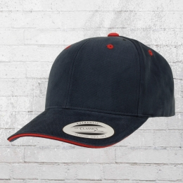 Yupoong by Flexfit Brushed Cotton Sandwich Cap blau rot