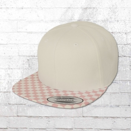 Yupoong by Flexfit Kappe Checkerboard Cap hellrosa weiss