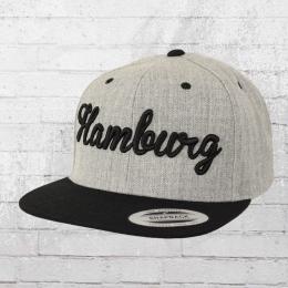 Yupoong by Flexfit Kappe City Cap Hamburg grau schwarz