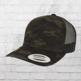 Yupoong by Flexfit Kappe Retro Trucker Multicam schwarz
