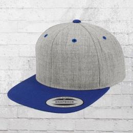 Yupoong by Flexfit Mütze Classic Snapback 2-Tone Cap grau meliert blau