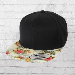 Yupoong by Flexfit Mütze Snapback Cap Floral schwarz bunt