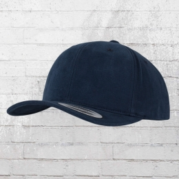 Yupoong by Flexfit Mütze Brushed Twill Cotton Cap dunkelblau