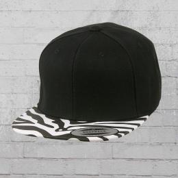 Yupoong Cap Classic Animal Snapback Mütze schwarz zebra