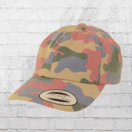 Yupoong Classic Cap Low Profile rose blue green camouflage