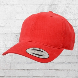 Yupoong Classics Blanko Kappe Brushed Twill Cotton Cap rot