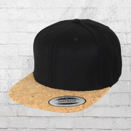 Yupoong Cork Snapback Cap schwarz kork