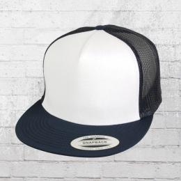 Yupoong Flexfit Classic Trucker Snapback Cap blau weiss blau