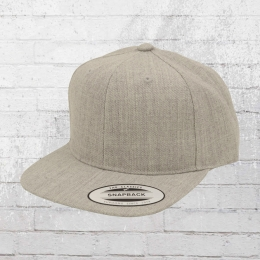 Yupoong Kinder Cap Classic Snapback Mütze grau melange