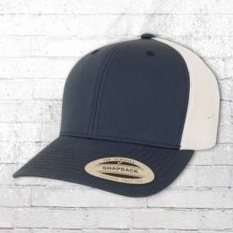 Yupoong Mütze Retro Trucker Cap 2-Tone blau weiss