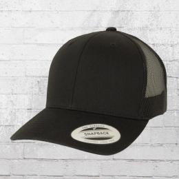 Yupoong Snapback Retro Trucker Cap schwarz schwarz