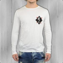 Religion Longsleeve T Shirt Männer 2 Card B241ZDF 02 B weiss