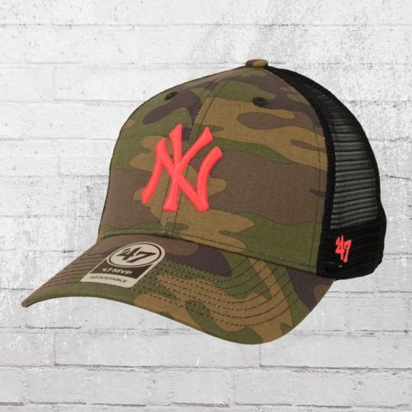 d396e5558ef74 47 Brand New York Yankees MLB Trucker Cap woodland pink. ›‹ «