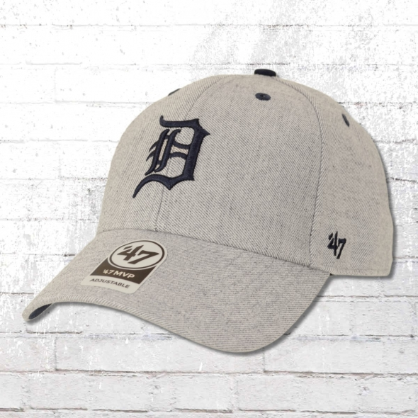 47 Brands Storm Cloud MLB Cap Detroit Tigers Kappe grau