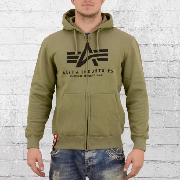 Alpha Industries Herren Kapuzenjacke Basic Zip Hoody olive grün