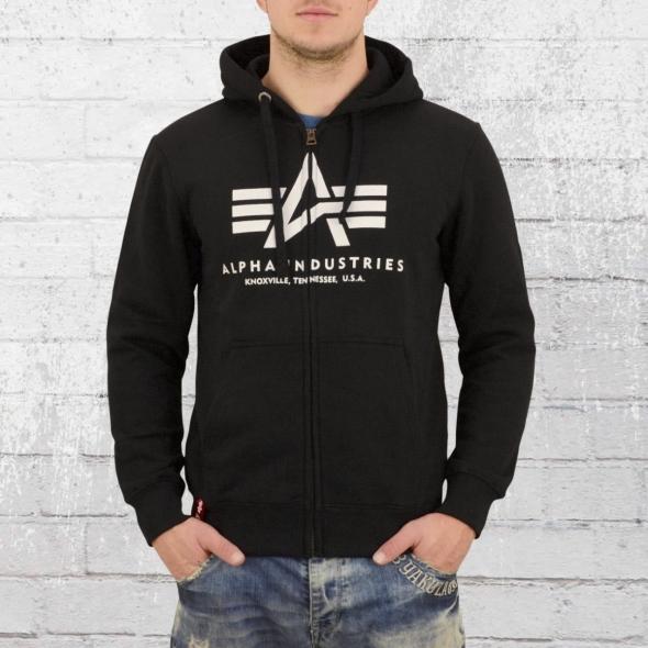 Alpha Industries Kapuzen Jacke Basic Zip Hoody schwarz