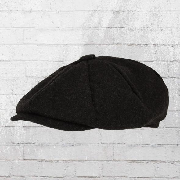 Beechfield Melton Wool Baker Boy Ballon-Mütze schwarz