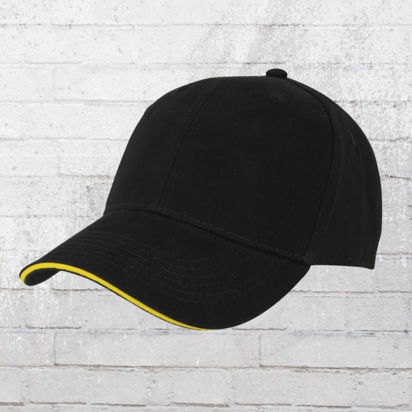 Beechfield Sandwich Cap schwarz gelb